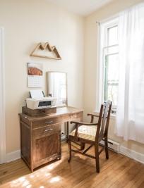Mountain Shelf & Custom Built Vanity - Timber Grove Studios