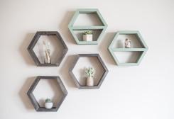 Hexagon Shelves - Timber Grove Studios