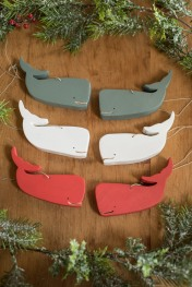 Whale Ornaments - Timber Grove Studios