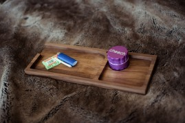 Walnut Rolling Tray - Sir Nicholas Smoke